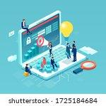 team of business people working ... | Shutterstock .eps vector #1725184684