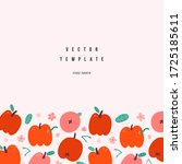 apple template with fruits... | Shutterstock .eps vector #1725185611