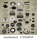 set of vintage retro labels | Shutterstock .eps vector #172518929