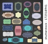 Vector Set Vintage Color Label...
