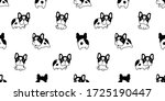 Dog Seamless Pattern French...
