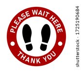 please wait here thank you keep ... | Shutterstock .eps vector #1725190684