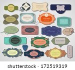 vector set vintage labels  old... | Shutterstock .eps vector #172519319