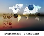 polygonal world map and... | Shutterstock .eps vector #172519385