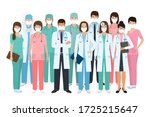 group of doctors and nurses... | Shutterstock .eps vector #1725215647