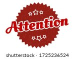 attention sign. attention round ... | Shutterstock .eps vector #1725236524