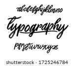 vector alphabet. handwritten...   Shutterstock .eps vector #1725246784