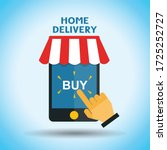 home delivery  online buy and... | Shutterstock .eps vector #1725252727