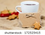 cup of coffee or chocolate with ... | Shutterstock . vector #172525415