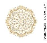 golden ornamental floral... | Shutterstock .eps vector #1725258574
