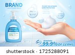 ad template of liquid hand wash ... | Shutterstock .eps vector #1725288091