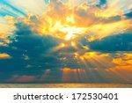 Golden Rays Of The Sun Breakin...