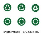 recycle set icon symbol vector. ...