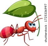 ant holding green leaf...   Shutterstock .eps vector #1725336997