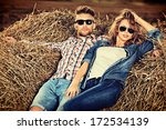 romantic young couple in casual ... | Shutterstock . vector #172534139