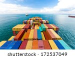 cargo ships entering one of the ... | Shutterstock . vector #172537049