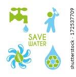 water design over white ... | Shutterstock .eps vector #172537709