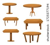 set of wooden tables vector...   Shutterstock .eps vector #1725377194