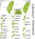 map of taiwan with borders in... | Shutterstock . vector #172537877