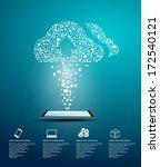 vector design   eps10 cloud... | Shutterstock .eps vector #172540121