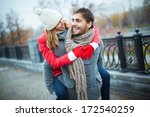 image of affectionate girl on... | Shutterstock . vector #172540259