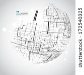 abstract technology globe | Shutterstock .eps vector #172540325