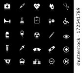medical icons with reflect on