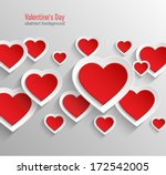 valentines day abstract... | Shutterstock .eps vector #172542005