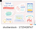 set of new normal lifestyle... | Shutterstock .eps vector #1725428767