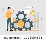 creative idea tools flat... | Shutterstock .eps vector #1725454591