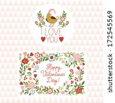 valentine's day cards  | Shutterstock .eps vector #172545569