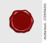 stamp or wax seal isolated on...   Shutterstock .eps vector #1725456241