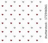 seamless heart pattern for... | Shutterstock .eps vector #172546061
