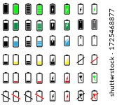 battery icons vector set. phone ...