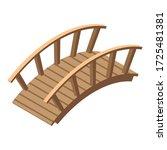 Garden Bridge Icon. Isometric...