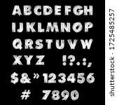 vector font design. white hand... | Shutterstock .eps vector #1725485257