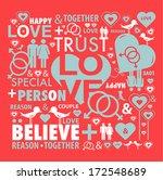 love card illustration design... | Shutterstock .eps vector #172548689