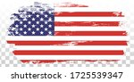 usa flag grunge  distress... | Shutterstock .eps vector #1725539347