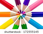 Colorful Pencils Isolated Over...
