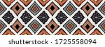 ikat geometric folklore... | Shutterstock .eps vector #1725558094