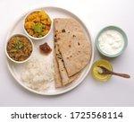 Vegetarian Indian Thali Or...