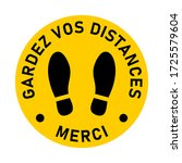 gardez vos distances merci  ... | Shutterstock .eps vector #1725579604
