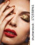 soft focus portrait of...   Shutterstock . vector #172558961
