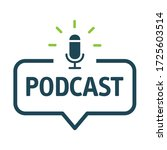podcast and digital...   Shutterstock .eps vector #1725603514