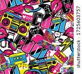 abstract seamless grunge urban... | Shutterstock .eps vector #1725603757