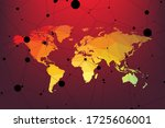 abstract world map triangle... | Shutterstock .eps vector #1725606001