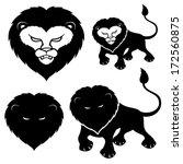 vector set. lion signs on white. | Shutterstock .eps vector #172560875