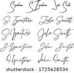 hand written signature.... | Shutterstock .eps vector #1725628534