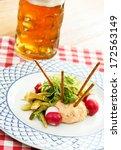 obatzda  is a bavarian cheese... | Shutterstock . vector #172563149