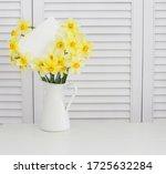 closeup of yellow daffodil...   Shutterstock . vector #1725632284